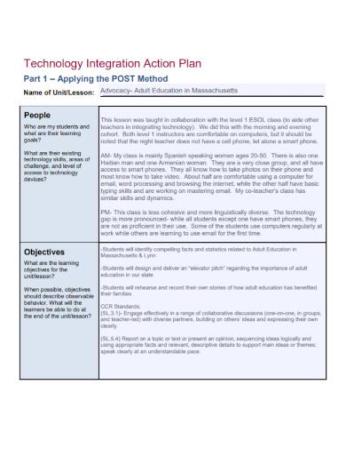 technology integration action plan