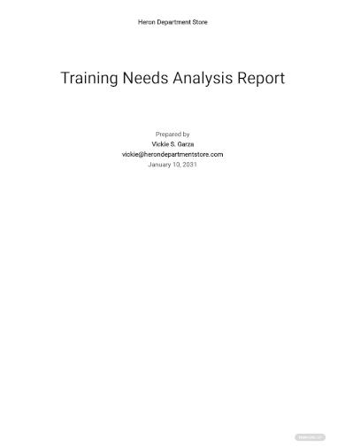 training needs analysis report template