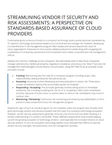 vendor security risk assessment