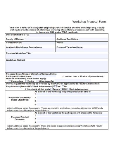 workshop proposal form