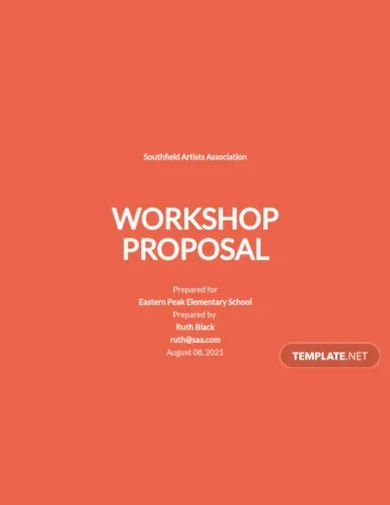 workshop proposal template