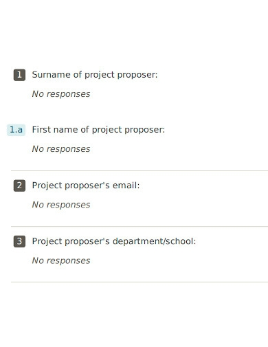 academic project proposal form