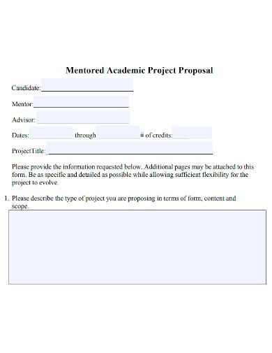 academic project proposal sample
