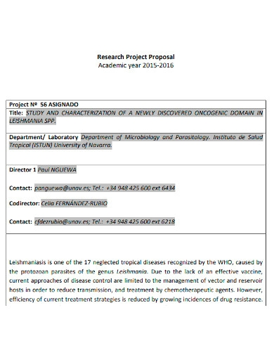 academic research project proposal