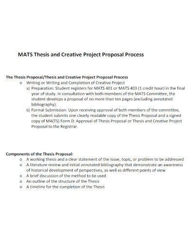 academic thesis project proposal