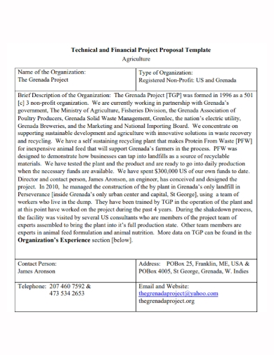 agricultural financial project proposal