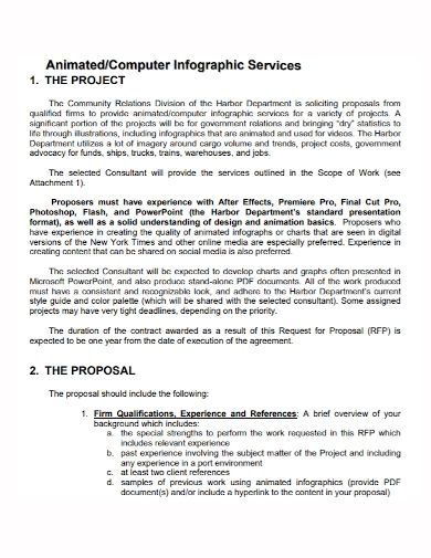 animation services project proposal