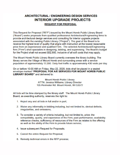 architectural interior design project proposal
