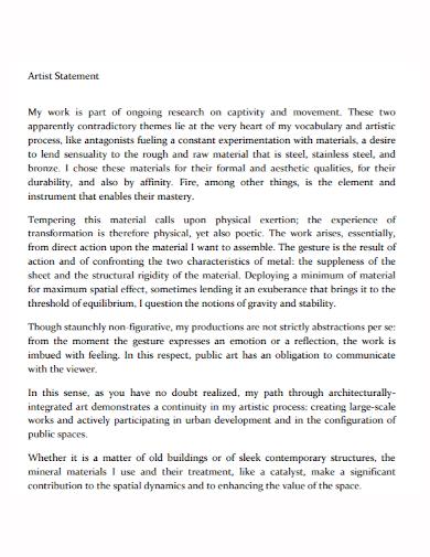 artist research statement