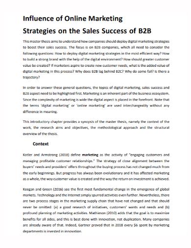 b2b online marketing sales strategy