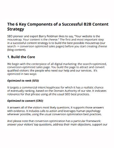 b2b optimization content strategy
