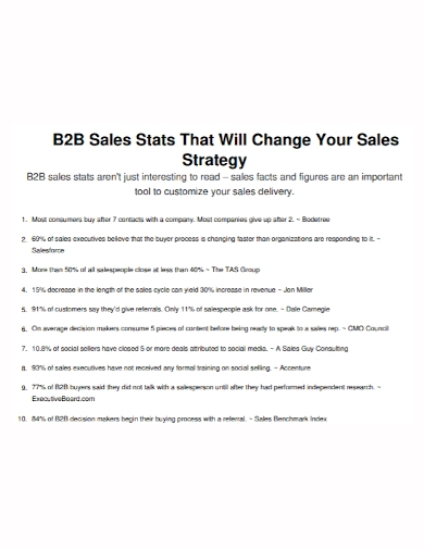 b2b sales delivery strategy