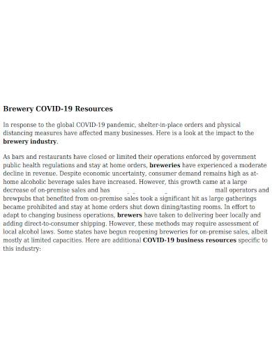 basic brewery business plan