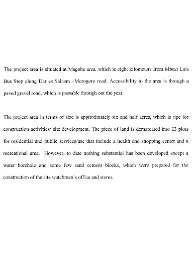 basic housing project proposal