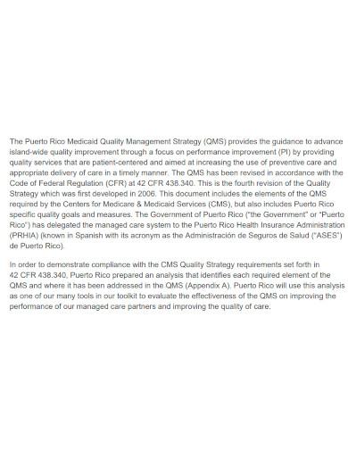 basic quality management strategy
