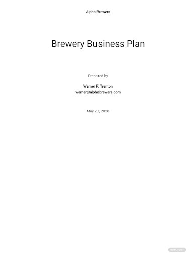 brewery business plan sample