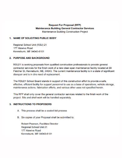 building construction project proposal