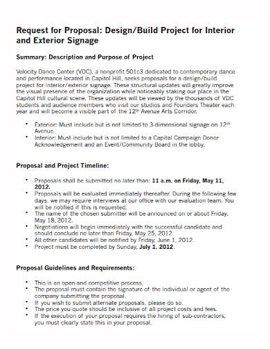 building interior design project proposal