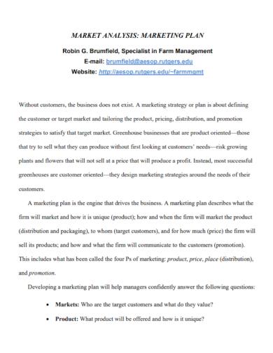 business management market analysis