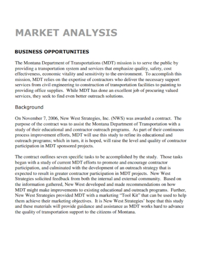 business opportunity market analysis