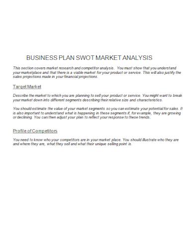business plan swot market analysis