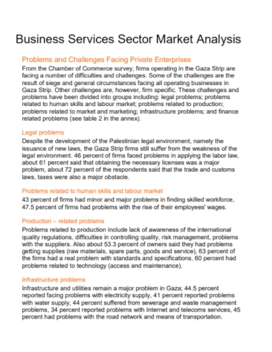 business services sector market analysis