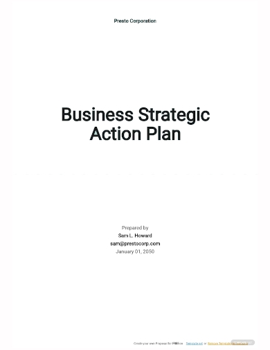 business strategic action plan template
