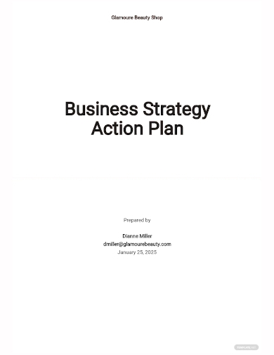 business strategy action plan template