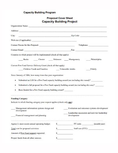 capacity building program project proposal