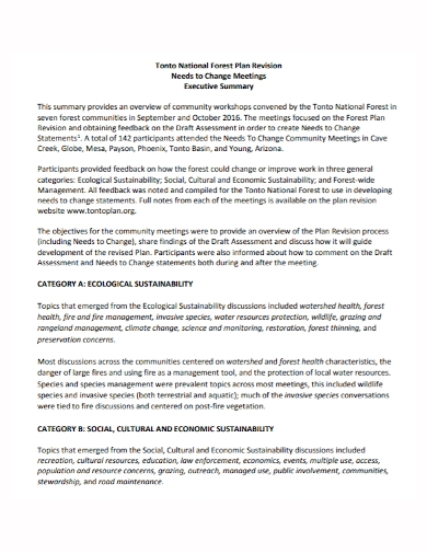changes meeting executive summary