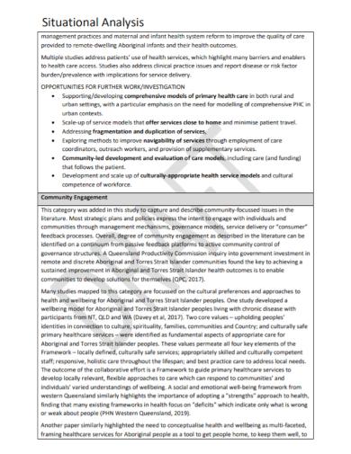 community engagement situational analysis