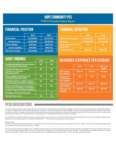 community financial analysis report