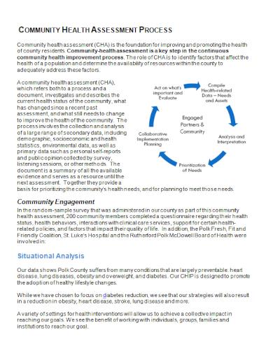 community health situational analysis
