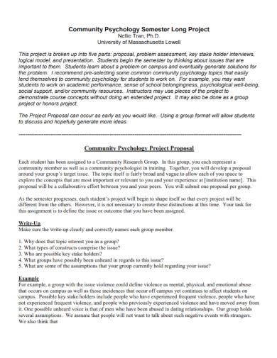 community psychology research proposal