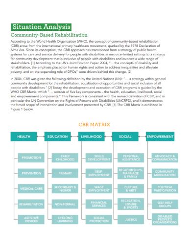 community rehabilitation situational analysis
