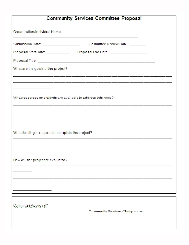 community service committee proposal