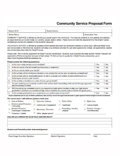 community service proposal form