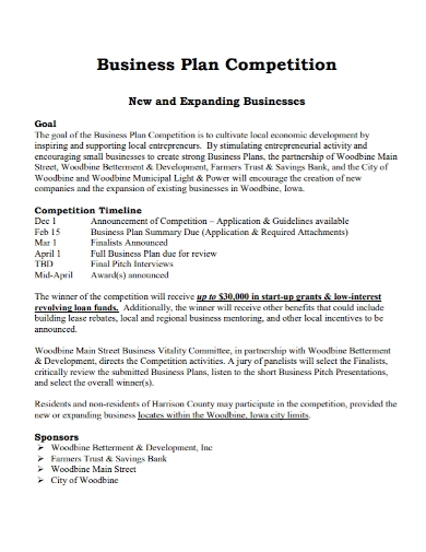 competition business plan