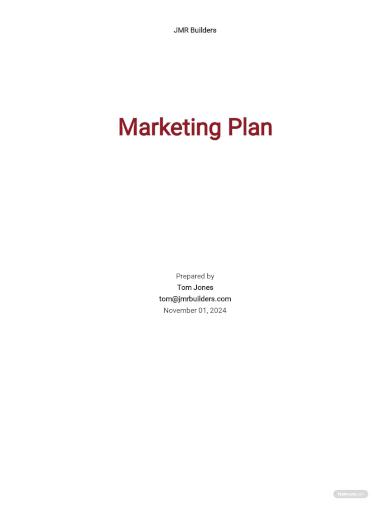 construction marketing plan template
