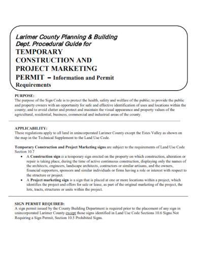 construction project marketing plan