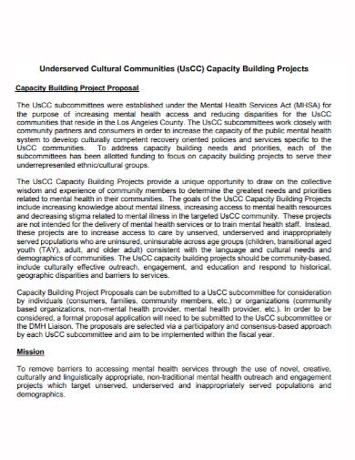 cultural community building project proposal