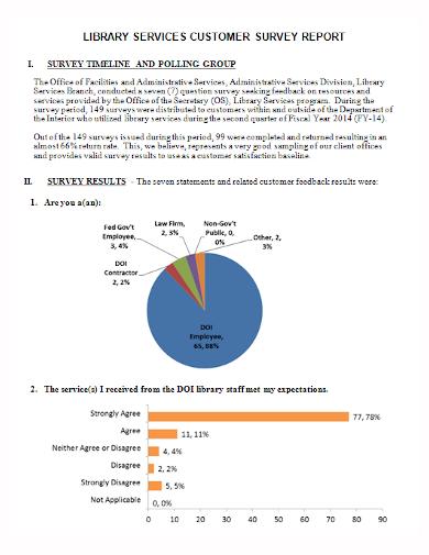 customer service survey report