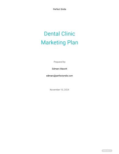 dental marketing plan template