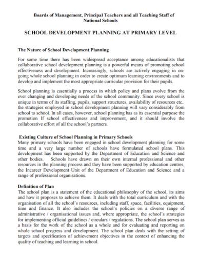 development plan for teachers staff