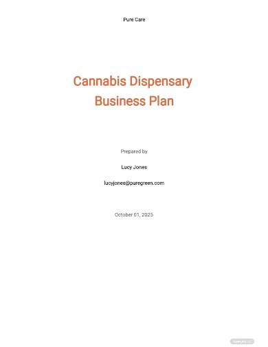dispensary business plan sample