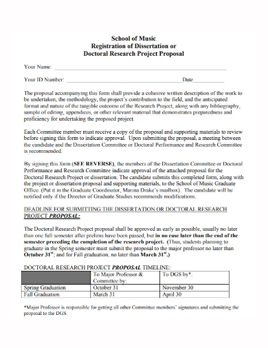 dissertation doctoral research project proposal
