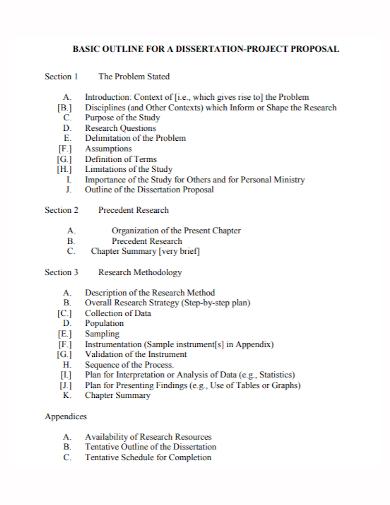 dissertation project proposal outline