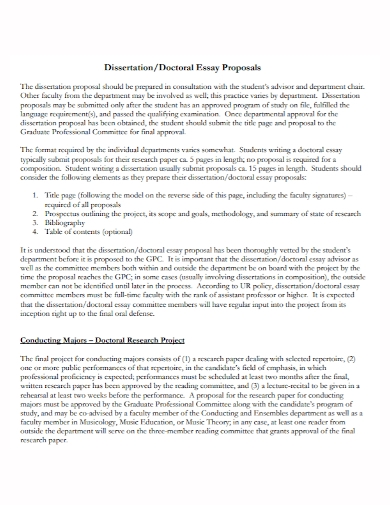 dissertation research project essay proposal