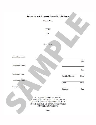 dissertation title proposal