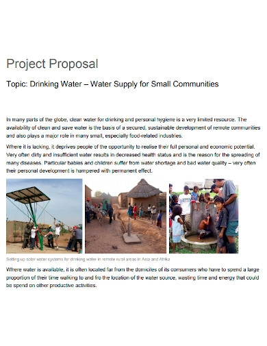 drinking water project proposal